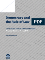 Forum 2000 Conference Report Democracy and the Rule of Law 2011