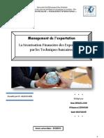 Résumé La Sécurisation Financière des Exportations par les Techniques bancaires.