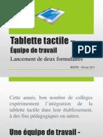 Tablette Tactile – Formulaires
