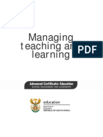Managing Teaching and Learning
