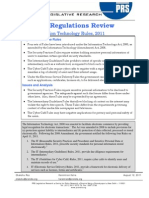 IT Rules and Regulations Brief 2011