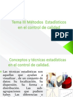 Tema III Métodos  Estadísticos en el control de