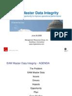 EAM Master Data Integrity