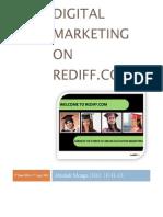 Digital Marketing on Rediff