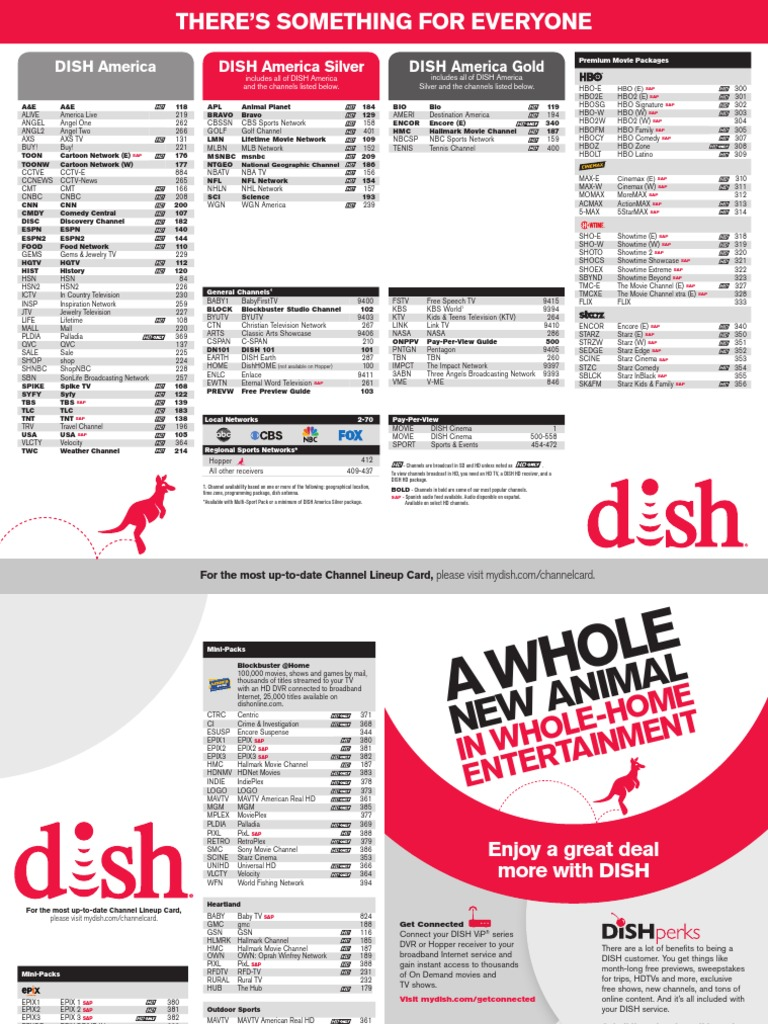 dish america channel guide | hbos | english language television