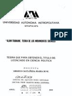 Alain Touraine, Teoria de Los Movimientos Sociales, Tesina Para Obtar a Licenciado en Ciencias Politicas