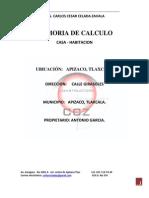 MEMORIA DE CÁLCULO de casa daniel materiales