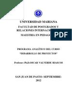 Modulo Desarrollo Proyectos Octubre 2012