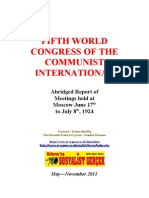 1924 Fifth Congress Communist International