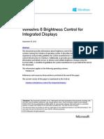 Windows 8 Brightness Control Integrated Displays
