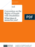 The United Nations Convention on the The United Nations Convention on the Rights of People with Disabilities