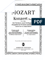 Mozart  violin konzert 5