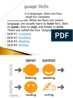 Language Skill - Listening and Speaking