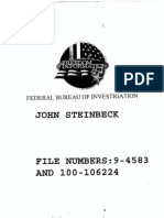 John Steinbeck's FBI File Part 1