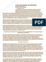 WHAT IN THE CONSTITUTION CANNOT BE AMENDED?  23 ARIZONA LAW REVIEW 717  (Footnotes have been omitted.)  by Douglas Linder