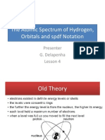The Atomic Spectrum of Hydrogen Orbitals and Spdf Notation
