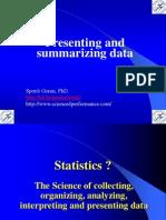 1. Presenting and Summarizing Data