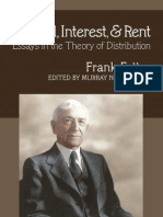 Capital, Interest, And Rent Essays in the Theory of Distribution
