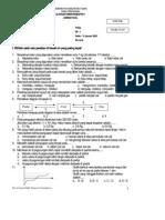 Soal Ulangan Sem 1 Fisika Kl8 Paket-1
