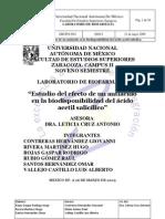 Biodisponibilidad Informe Final