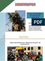 PLAN INTEGRAL DE MANEJO DE RESIDUOS SÓLIDOS EN CONSTRUPEC inter