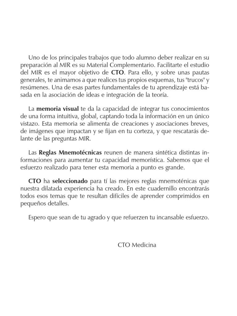 CTO - Reglas Mnemotecnicas