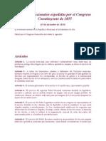 Bases Constitucionales Expedidas Por El Congreso Constituyente de 1835
