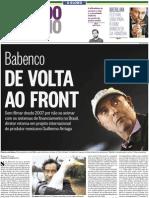 Arriaga e Babenco no Segundo Caderno da Globo