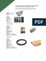 Materiales y Mano de Obra Para Cada Actividad Constructiva