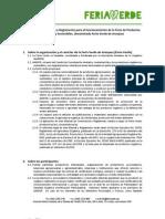 Feria Verde - Reglamento Feria Verde, Manual de Convivencia