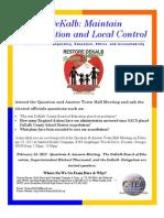 Restore DeKalb Question & Answer Town Hall Meeting