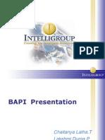 BAPI Presentation