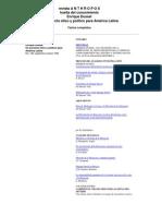 25326346 Enrique Dussel Revista Anthropos Huella Del Conocimiento Un Proyecto Etico y Politico Para America Latina