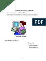Unix Lab -II Sem Manual