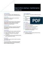 G165_EN_ACS550 Standard Drive Startup, Maintenance and Service_course Description and Agenda
