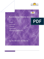 Knowledge Sheets On (A)  By - Sri Sri Ravi Shankar