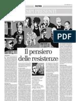 Il Pensiero Delle Resistenze. Un Sentiero Di Lettura Sugli Studi Postcoloniali - Il Manifesto 20.02.2013