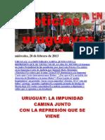 Noticias Uruguayas miércoles 20 de febrero del 2013
