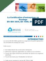 4 BOURGEOIS Presentation JT AFIAP Certification Entreprises Soudage