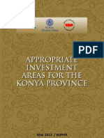Konya Investment Areas