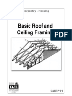 Carpentry Notes on Basic Roof & Ceiling Framing