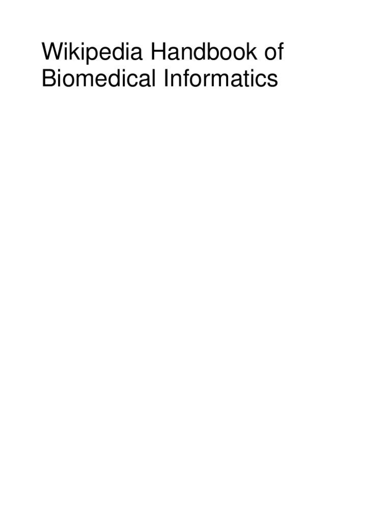 Wikipedia Handbook of Biomedical Informatics | Health Informatics ...