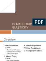 Demand, Supply and Elasticity