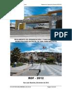 Reglamento de Organizacion y Funciones - ROF