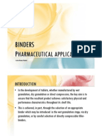 Pharmaceutical Binders
