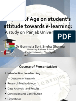 Impact of Age on student's attitude towards e-learning A study on Panjab University, India.ppsx