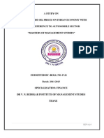 A Study on Impact of Crude Oil Prices on Indian Economy With Special Reference to Automobile Sector