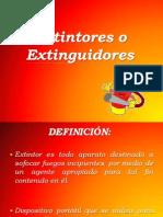 Extintores o Extinguidores- Taller
