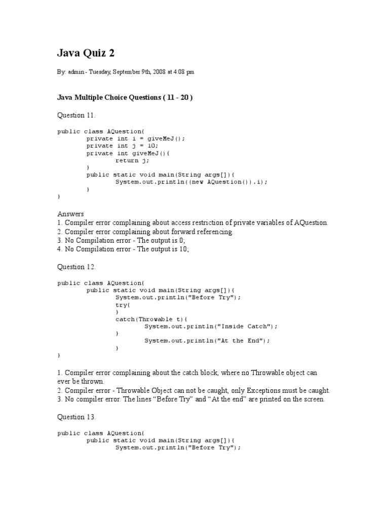 Mcq on serialization in java