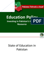 PTI Education Policy
